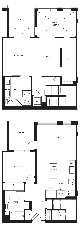 One Paseo Villas 1 Floorplan