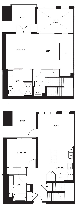 One Paseo Villas 1a Floorplan