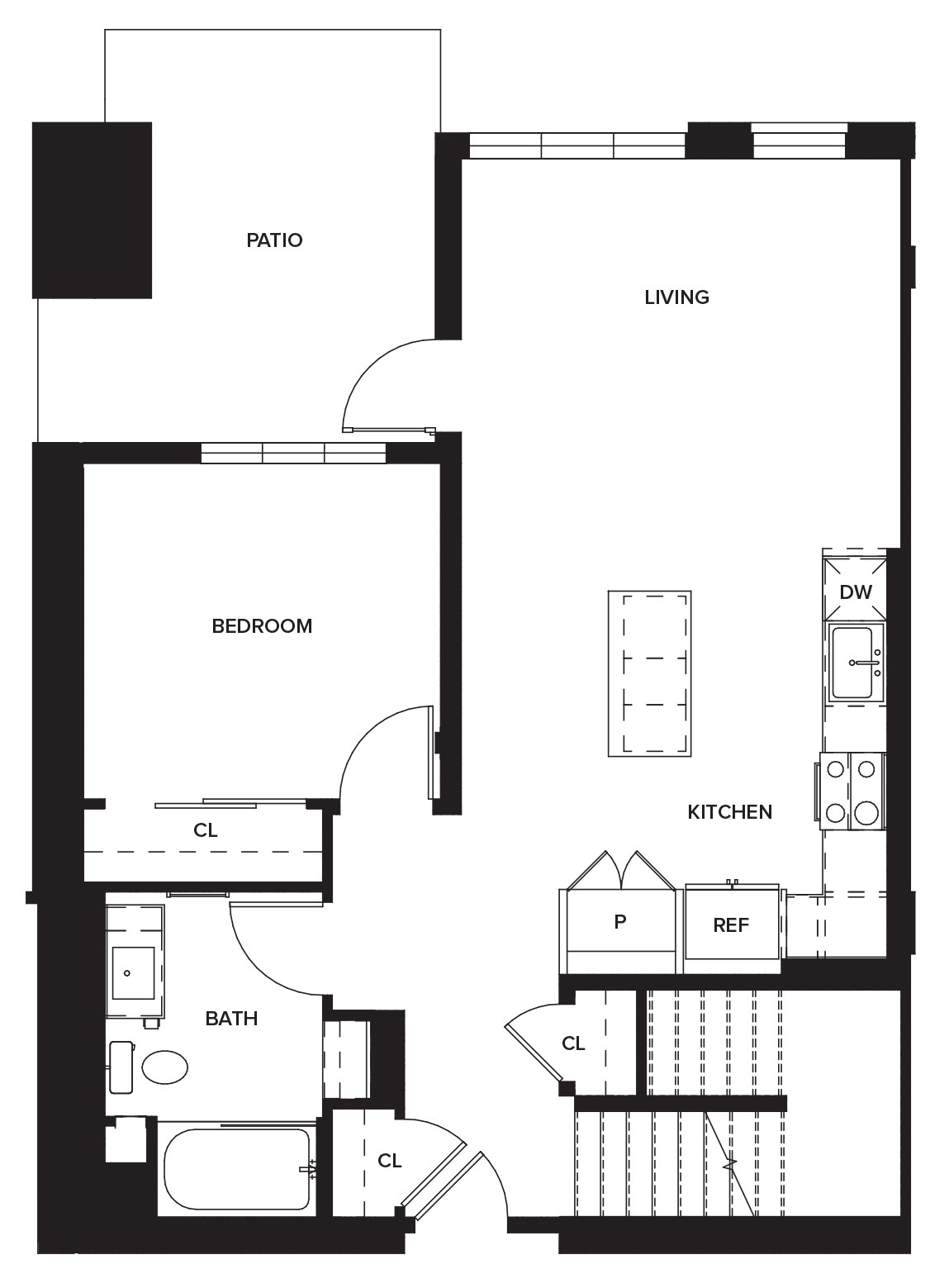 One Paseo Townhome 1a Floorplan