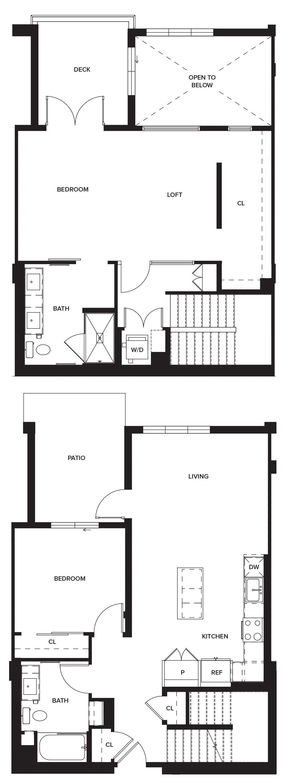 One Paseo Villas 1b Floorplan