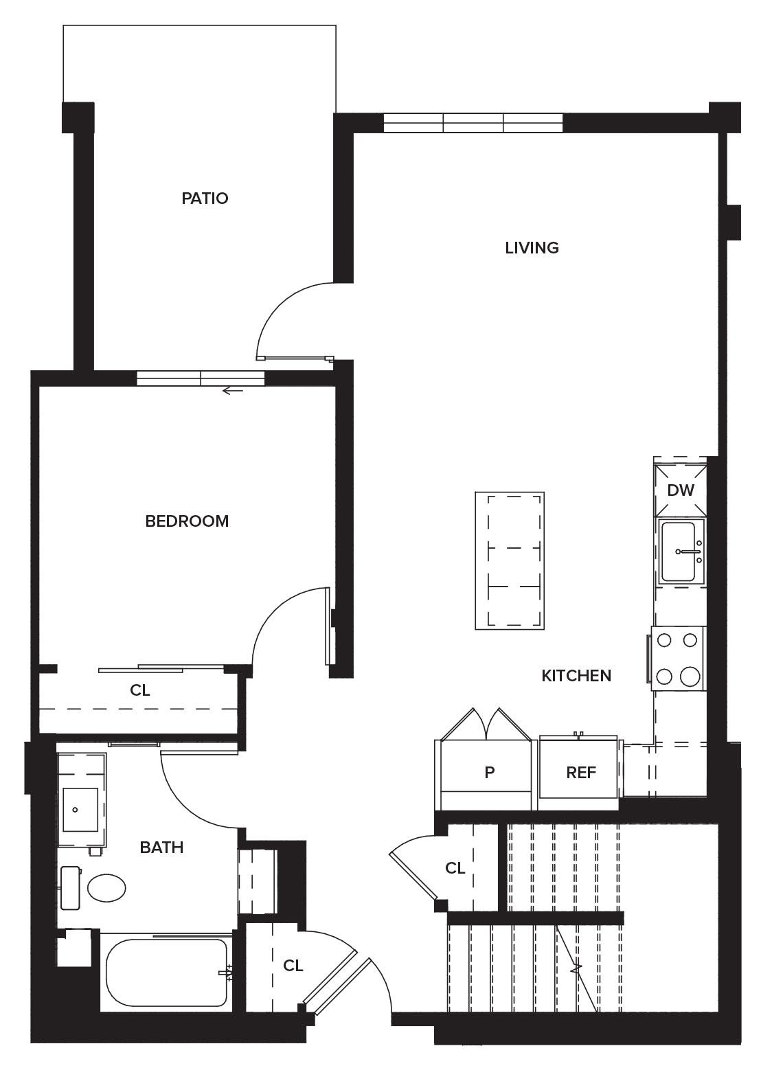 One Paseo Townhome 1b Floorplan
