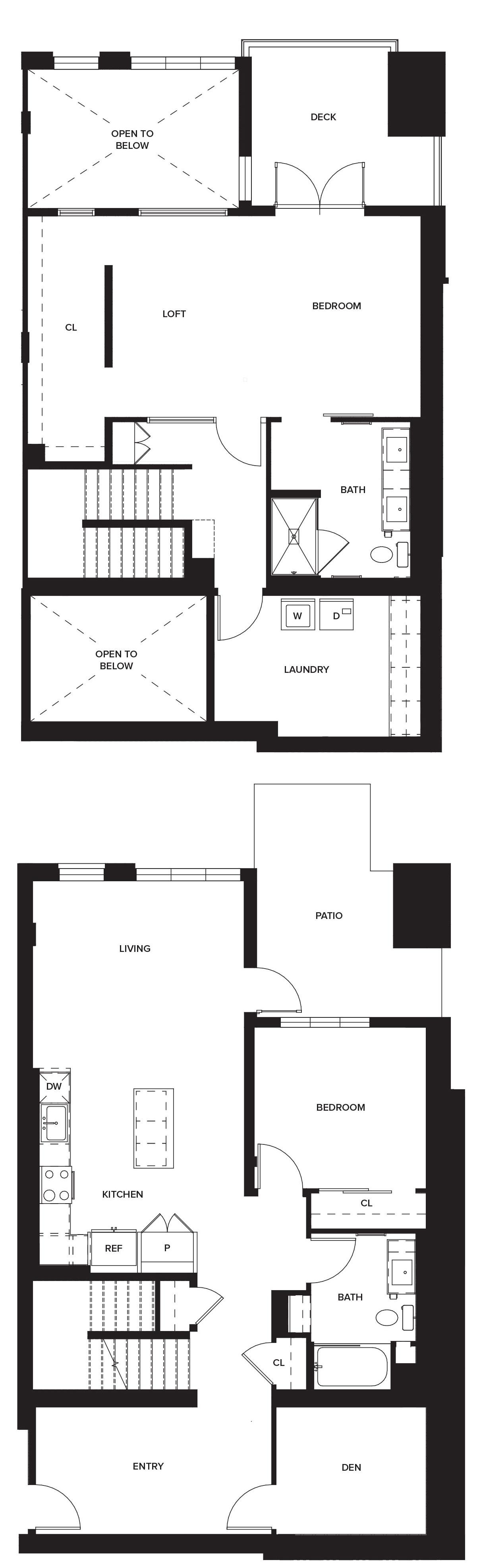 One Paseo Villas 1c Floorplan