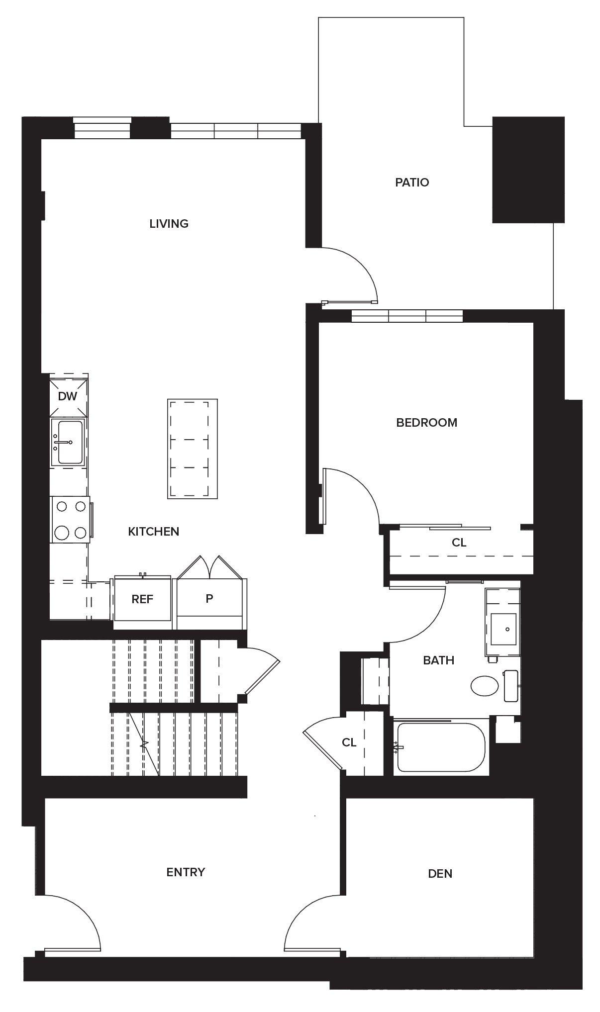 One Paseo Townhome 1c Floorplan