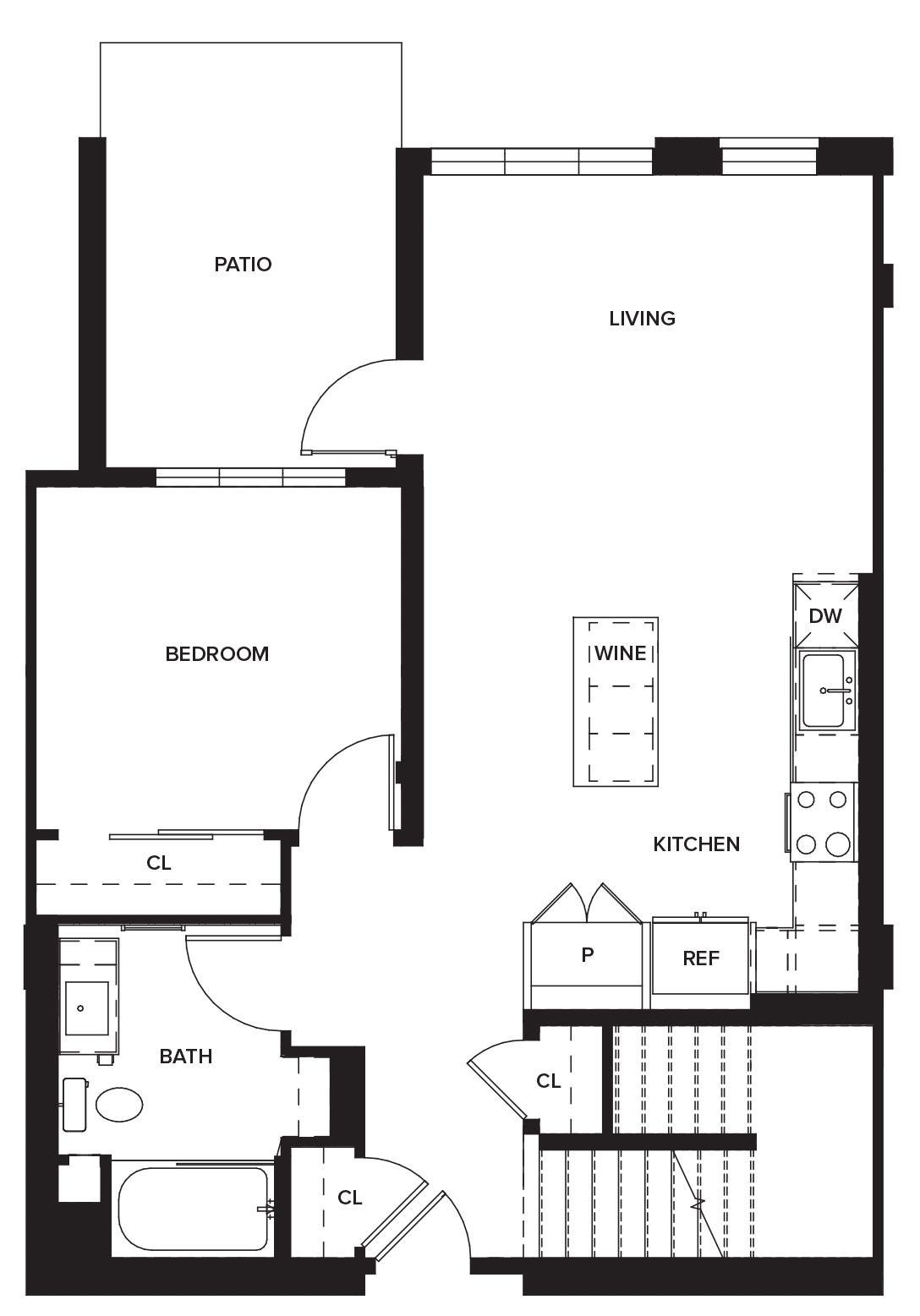 One Paseo Townhome 1 Floorplan