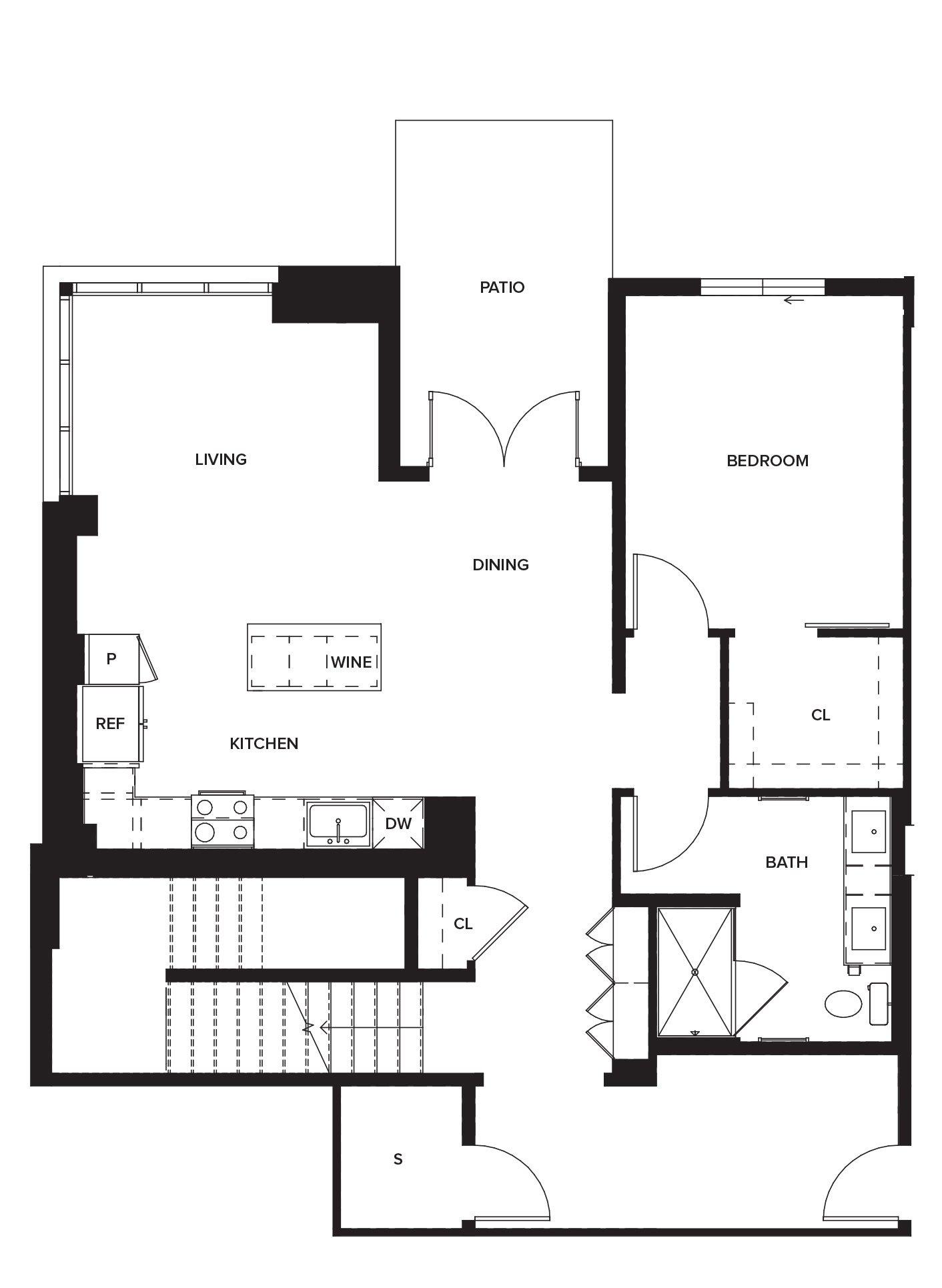 One Paseo Townhome 2 Floorplan