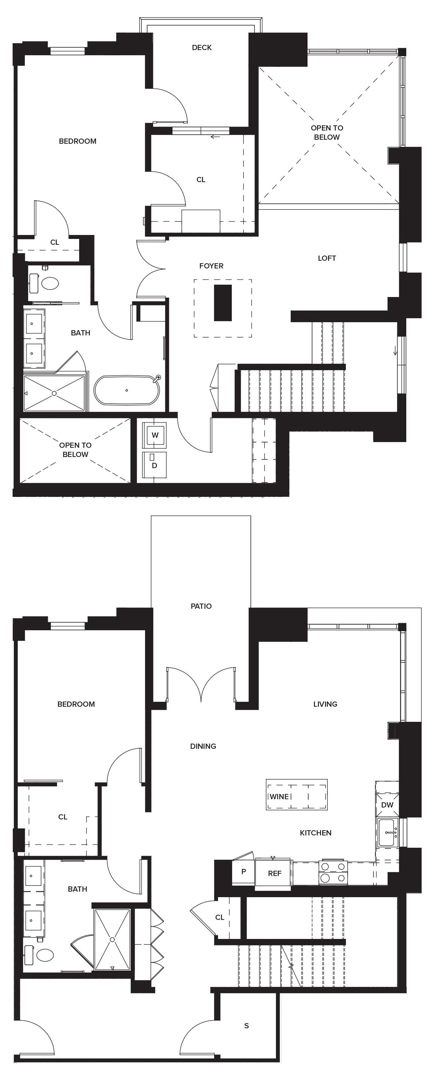 One Paseo Villas 2a Floorplan