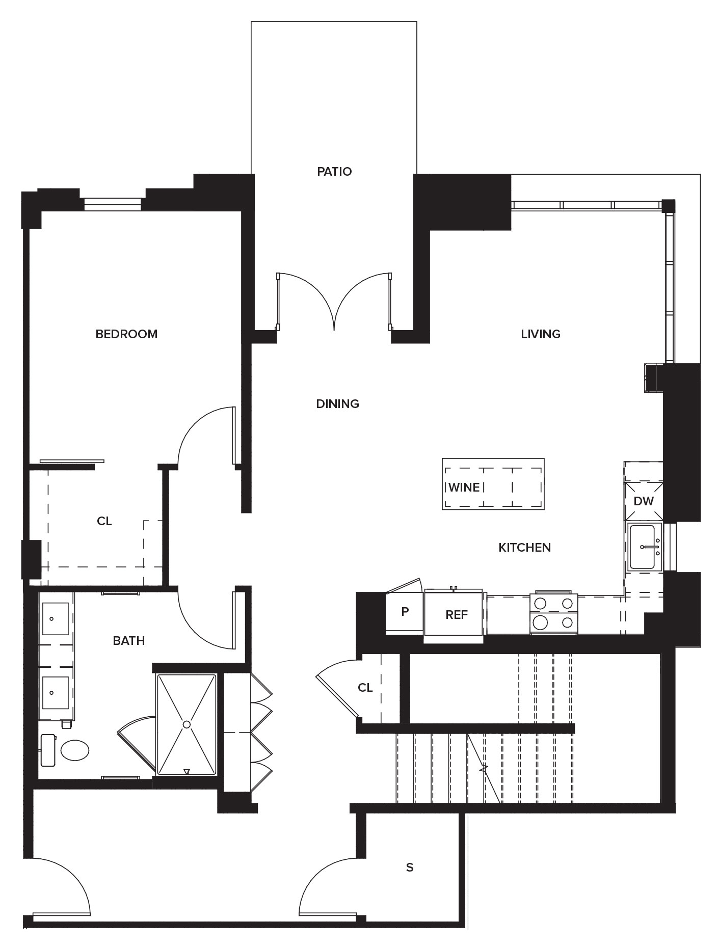 One Paseo Townhome 2a Floorplan