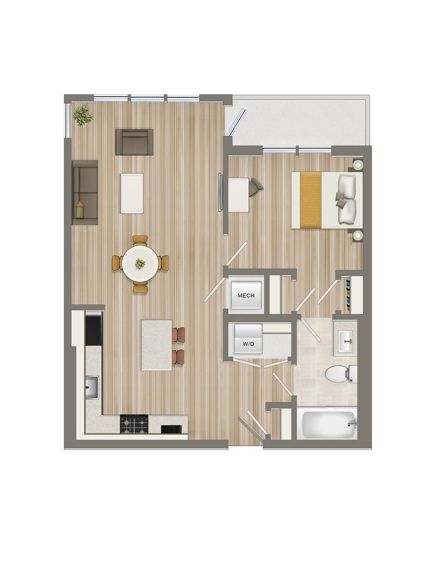 One Bedroom-02 Tier