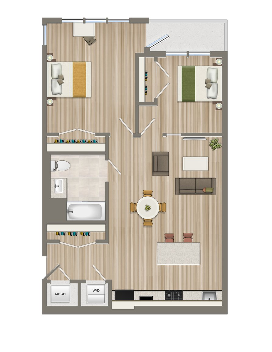 Two Bedroom-201, 501 (UFAS)