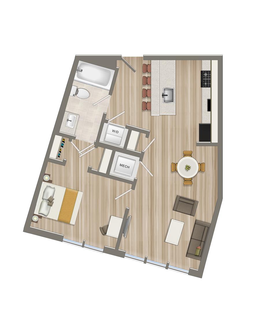 One Bedroom-13 Tier