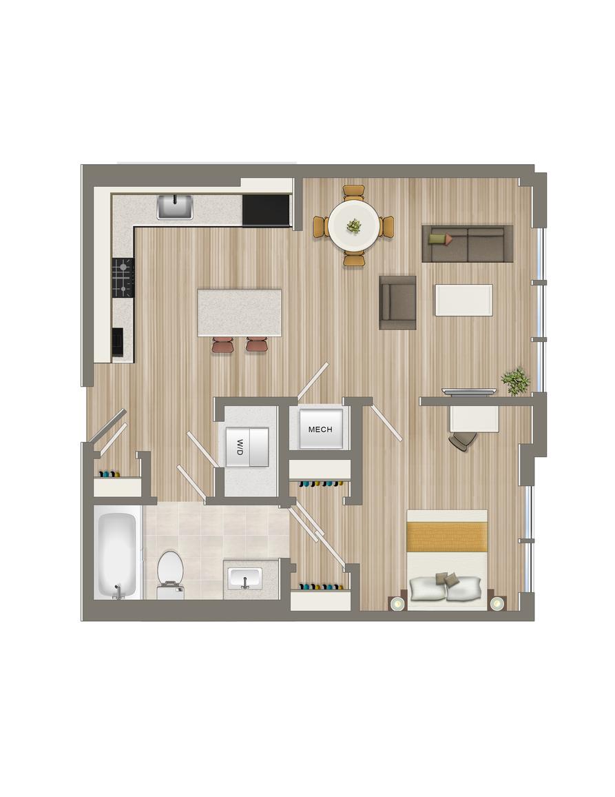 One Bedroom-15, 16,17, & 18 Tiers