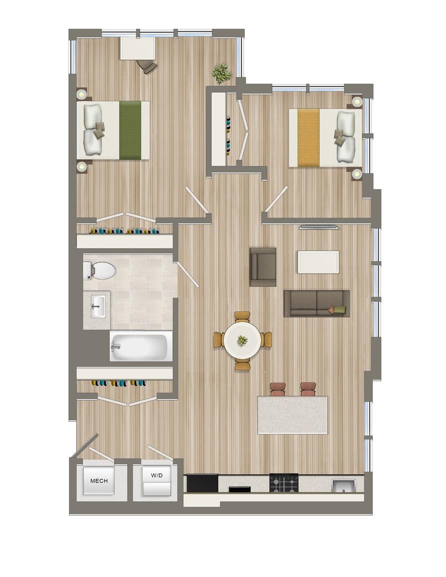 Two Bedroom-01 Tier