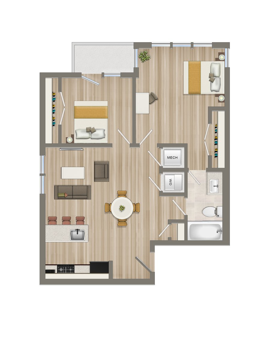 Two Bedroom-04 Tier