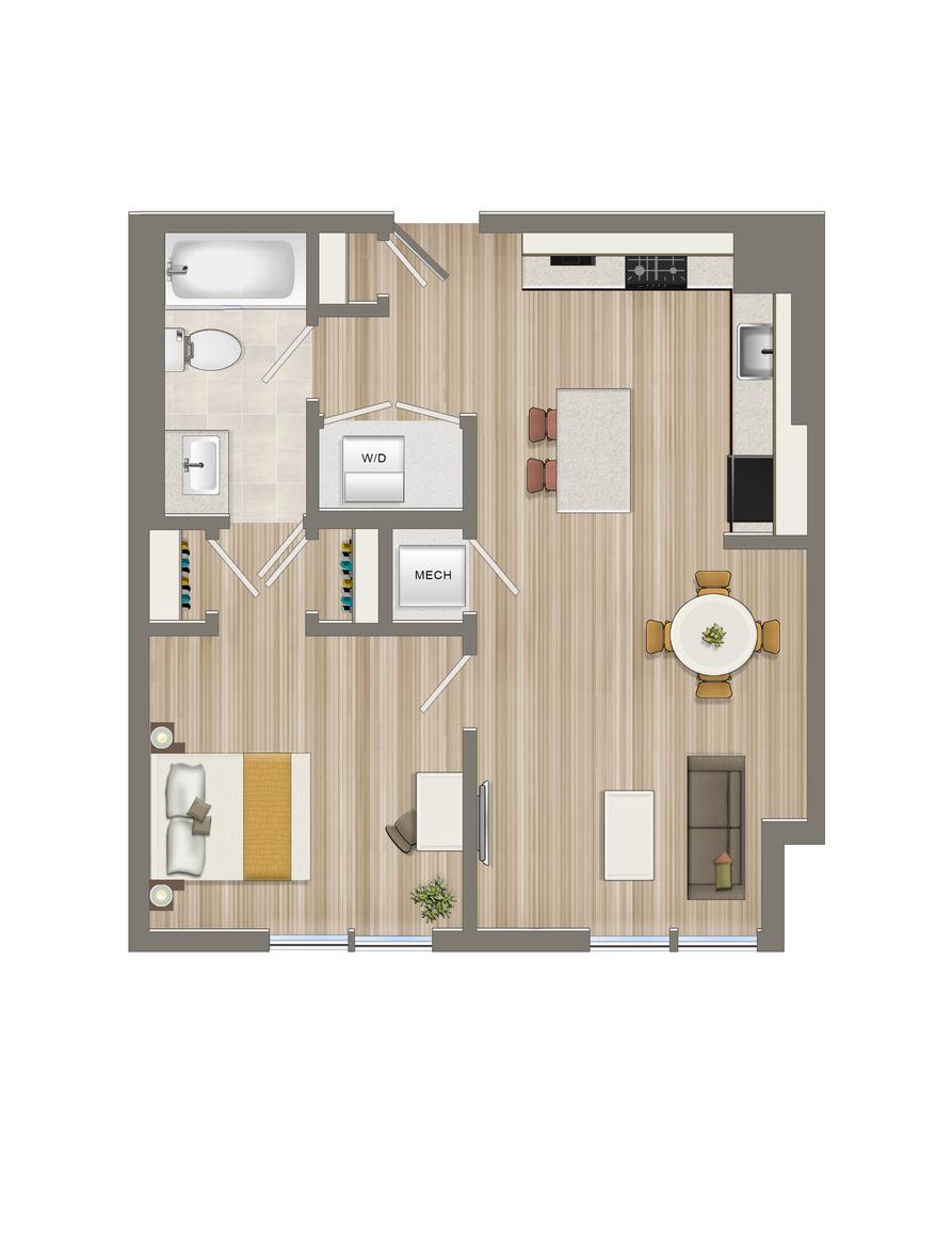 One Bedroom-06 Tier