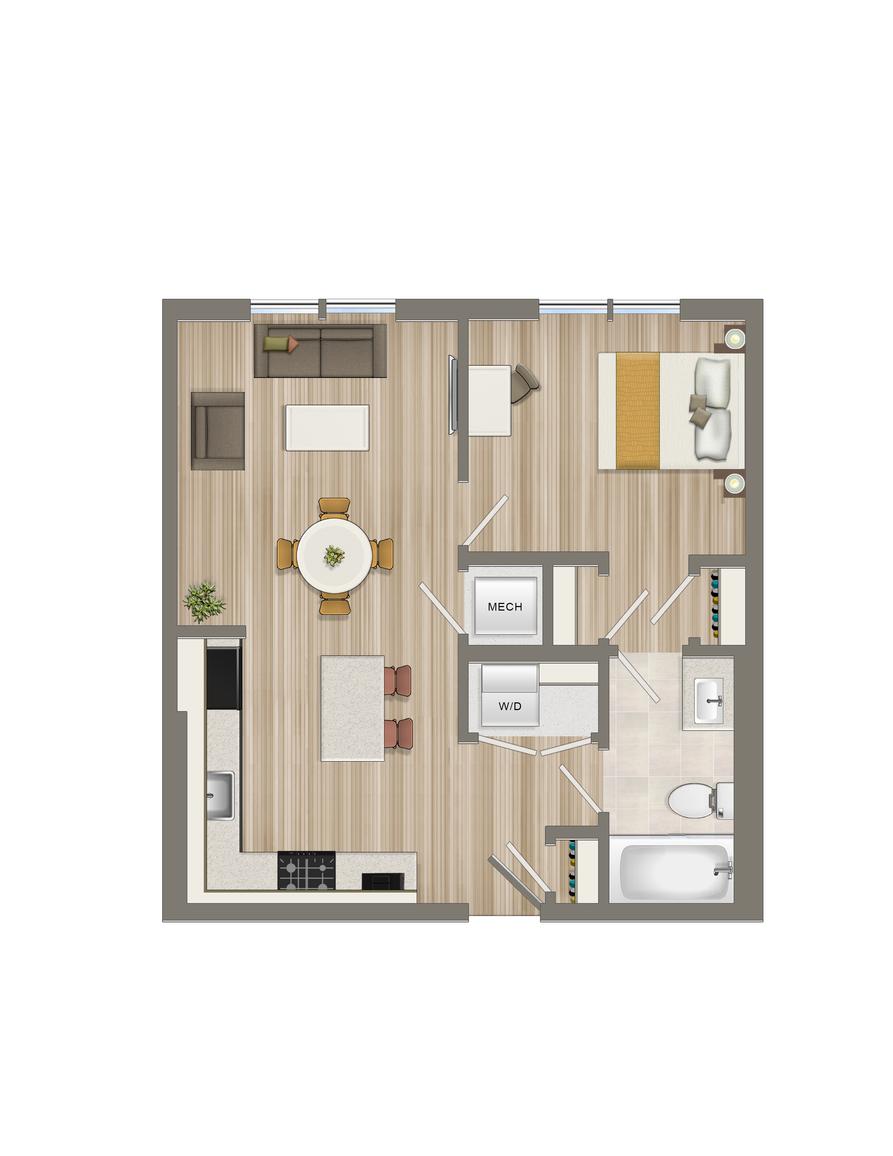 One Bedroom-03 Tier