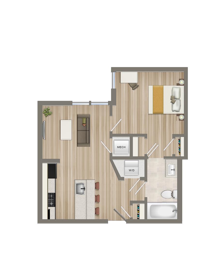 One Bedroom-07 Tier