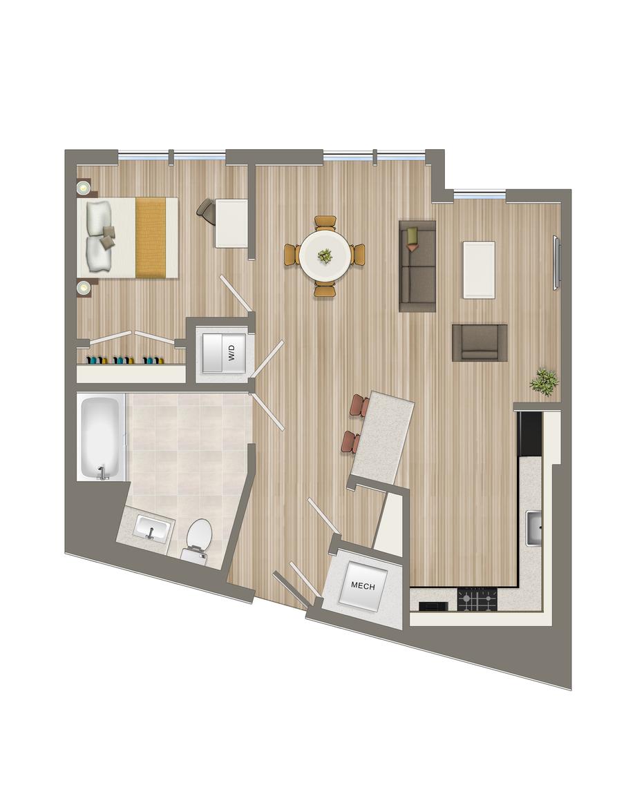 One Bedroom-09 Tier