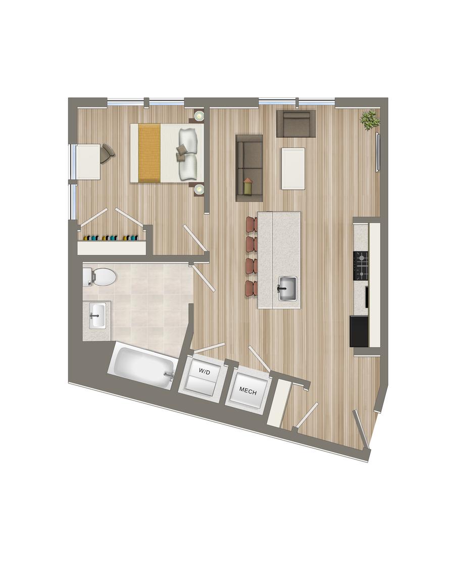 One Bedroom-10 Tier