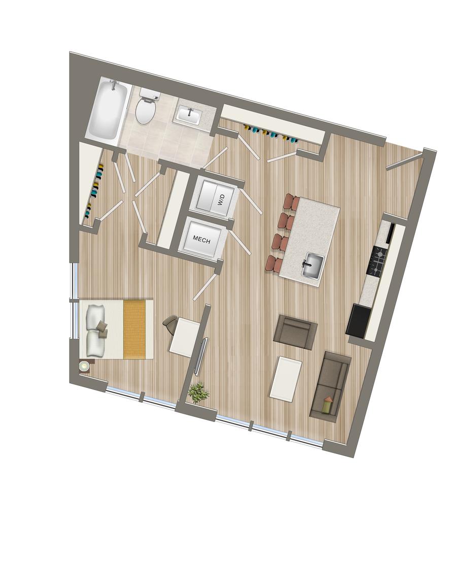 One Bedroom-11 Tier