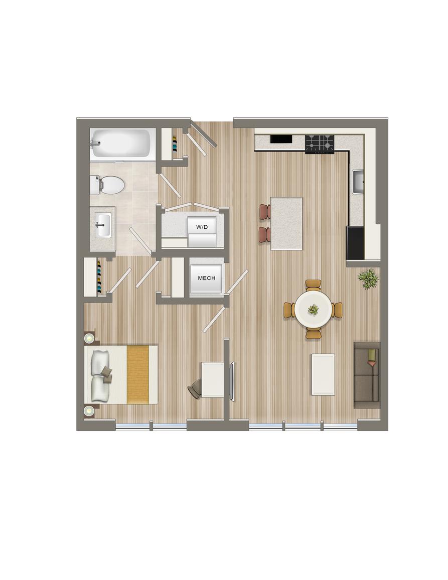 One Bedroom-12 Tier