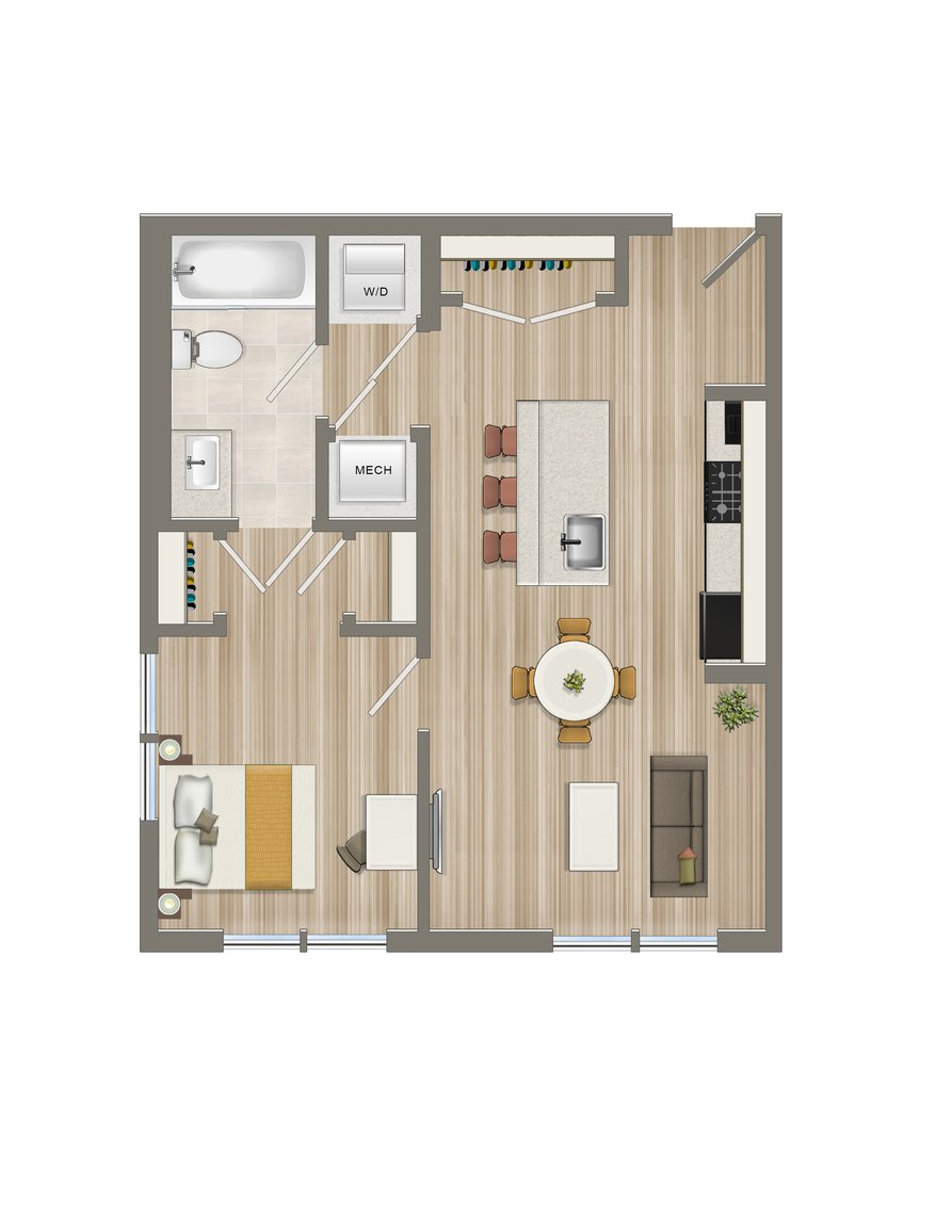 One Bedroom-05 Tier