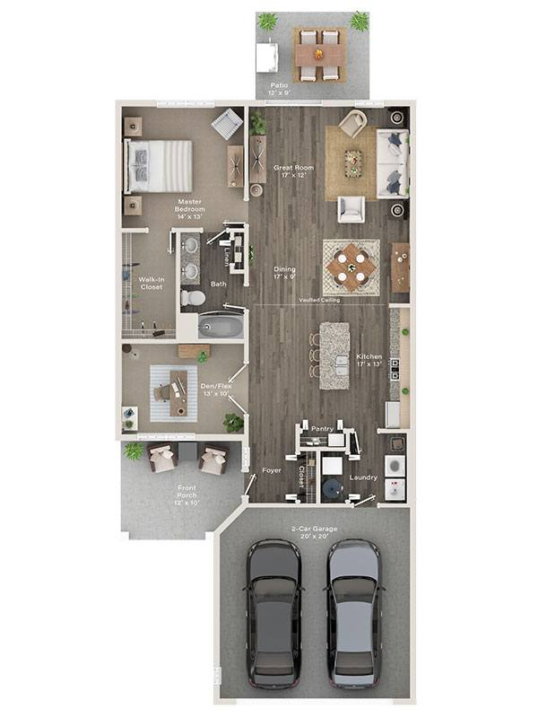 One Bedroom w/Den Ranch Villa