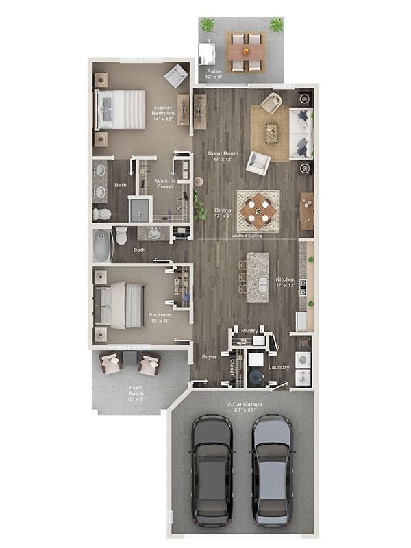 Two Bedroom Ranch Villa