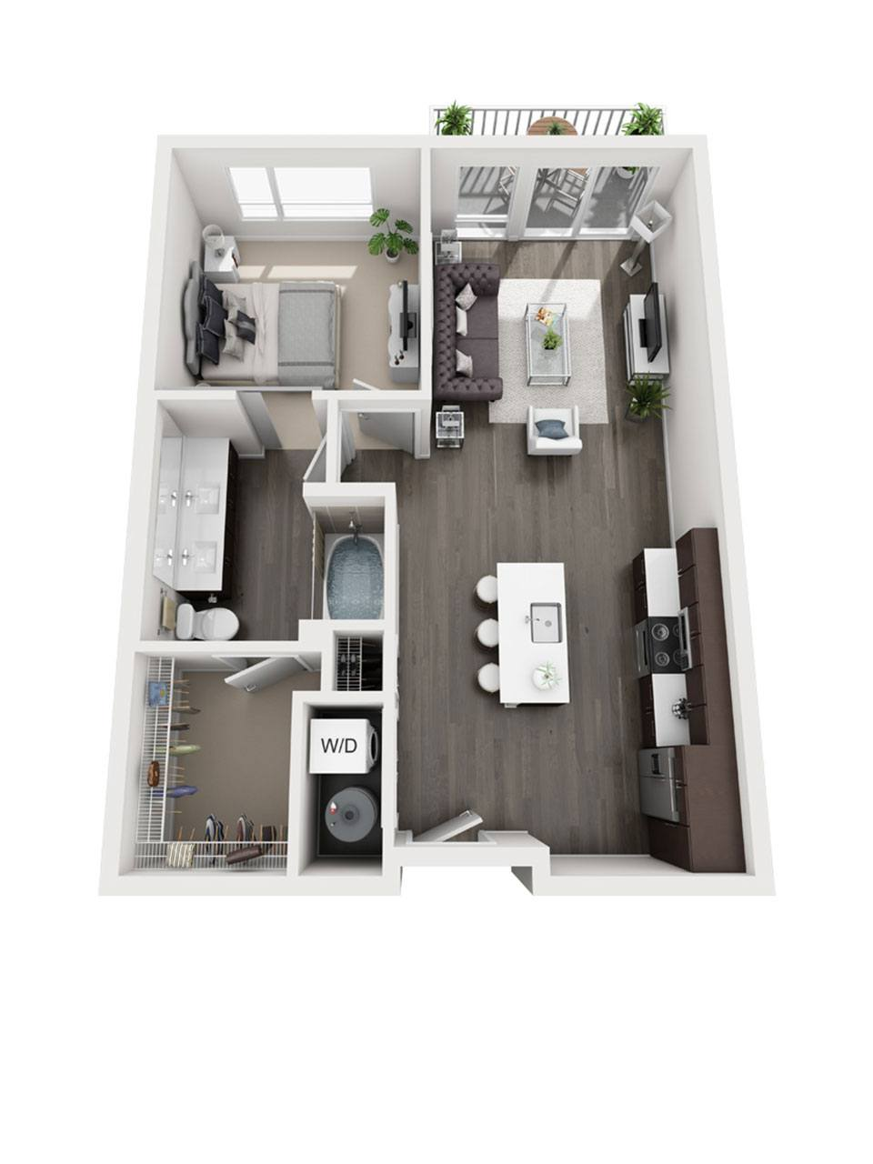 Plan 1 bedroom – A1 | 1 Bath