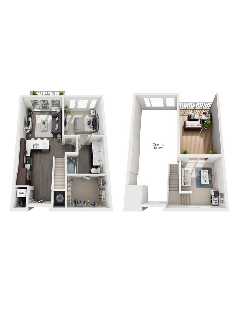 Plan 1 Bedroom – A1L | 1 Bath
