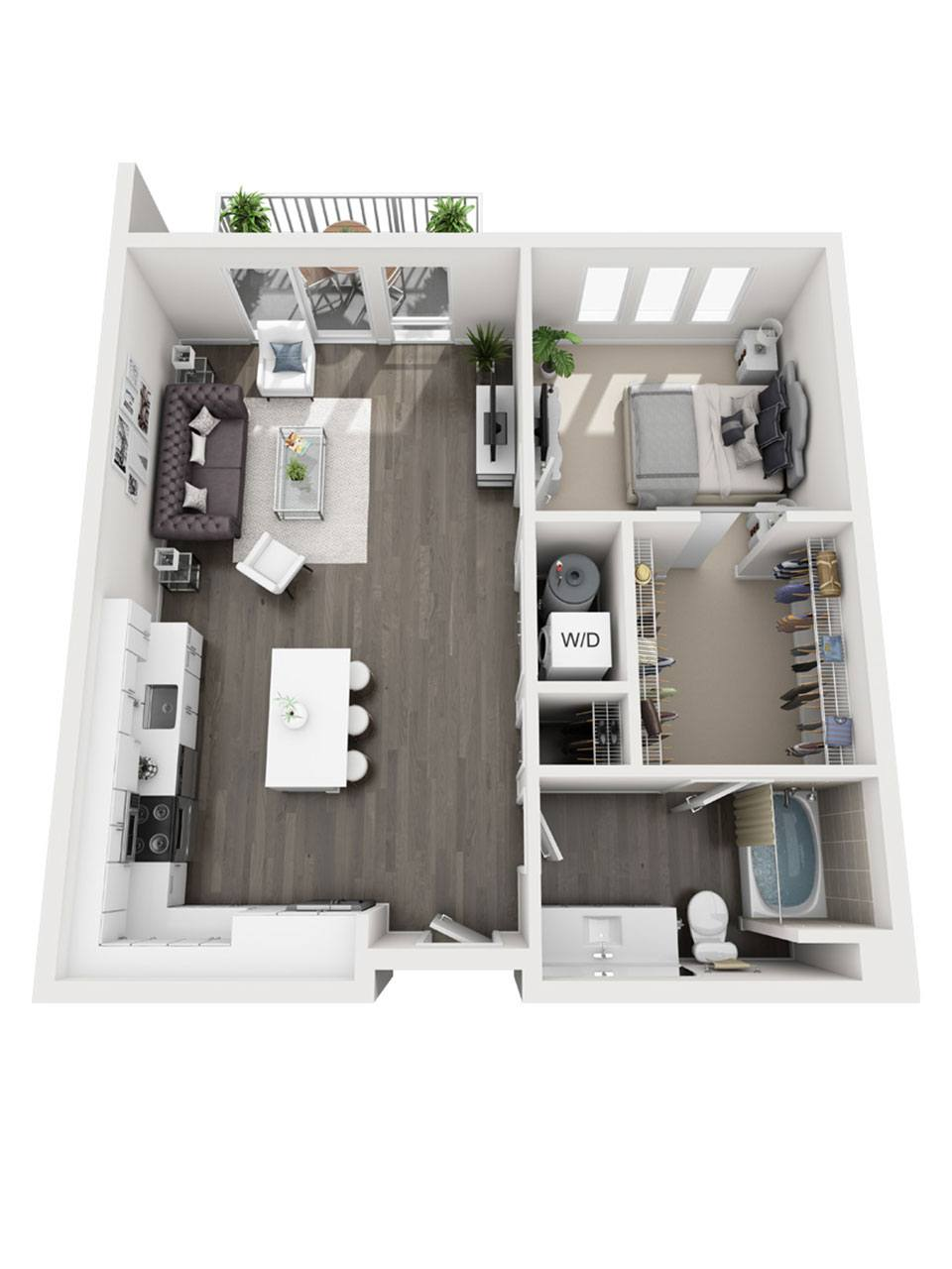 Plan 1 Bedroom – A2 | 1 Bath