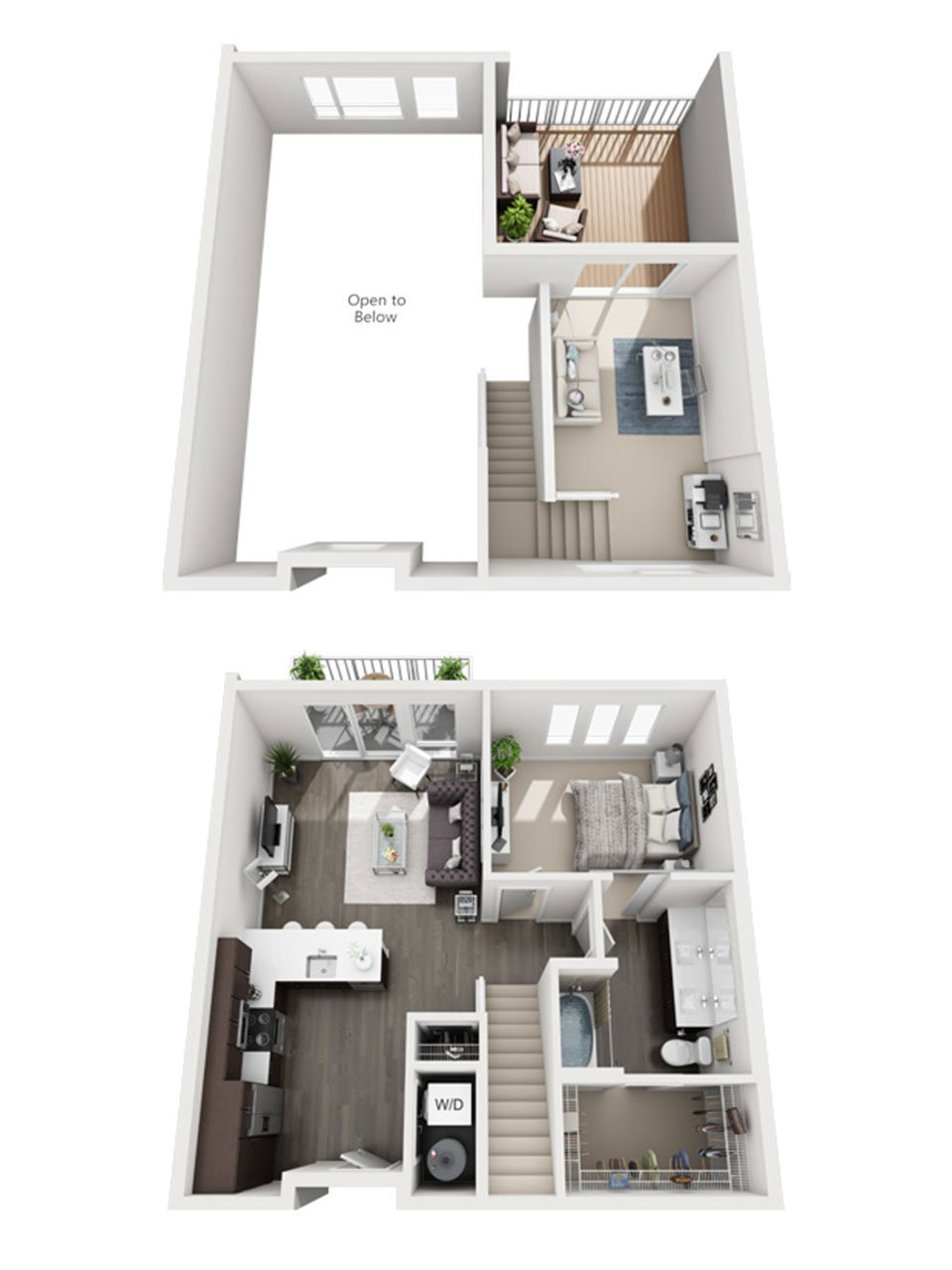 Plan 1 Bedroom – A2L | 1 Bath