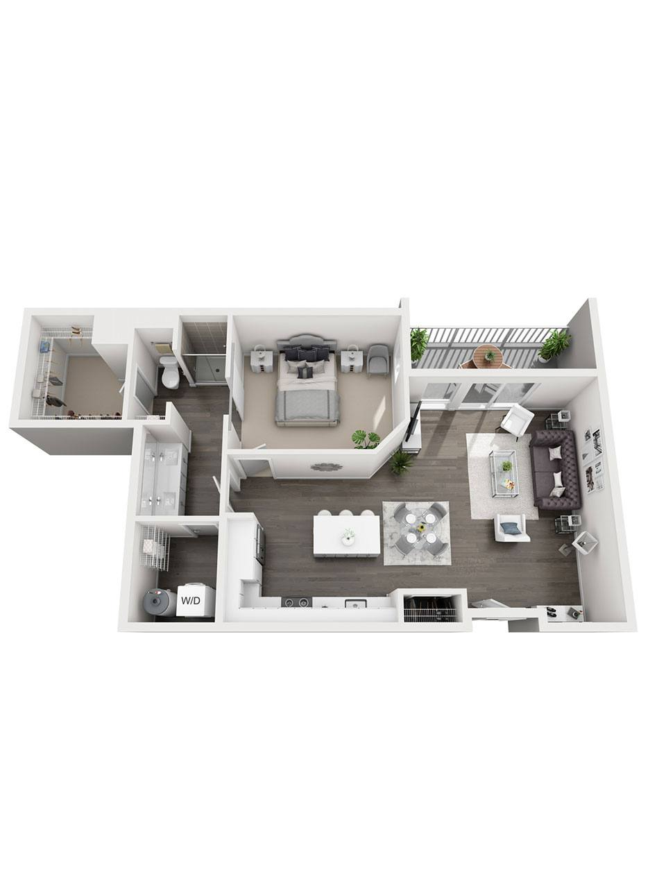 Plan 1 bedroom – A3 | 1 Bath