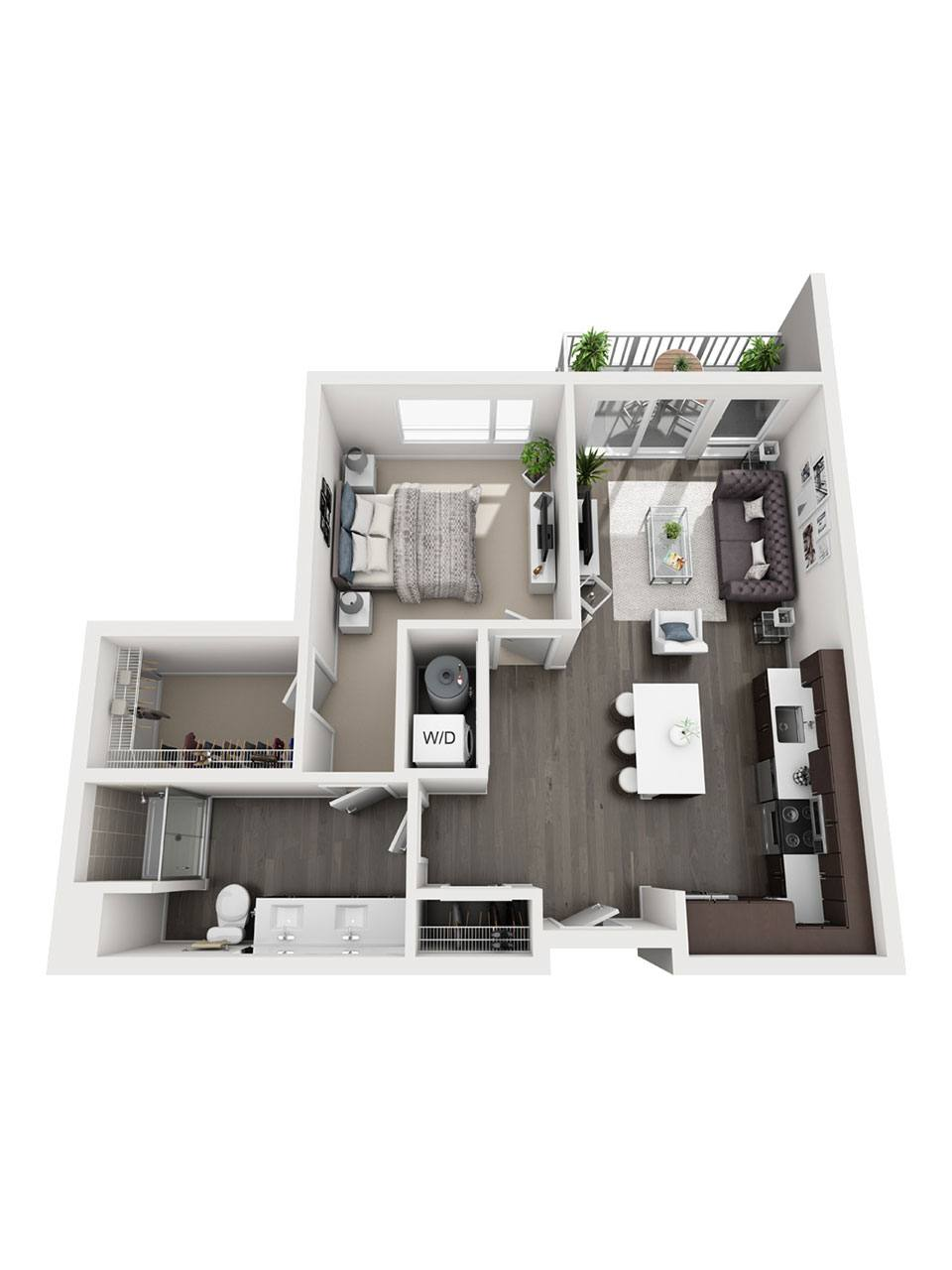 Plan 1 bedroom – A4 | 1 Bath