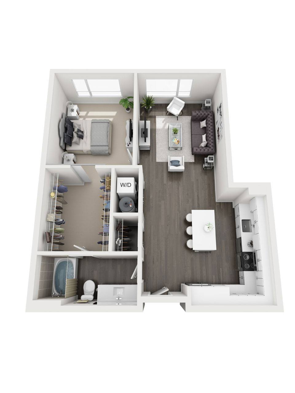 Plan 1 Bedroom – A5 | 1 Bath