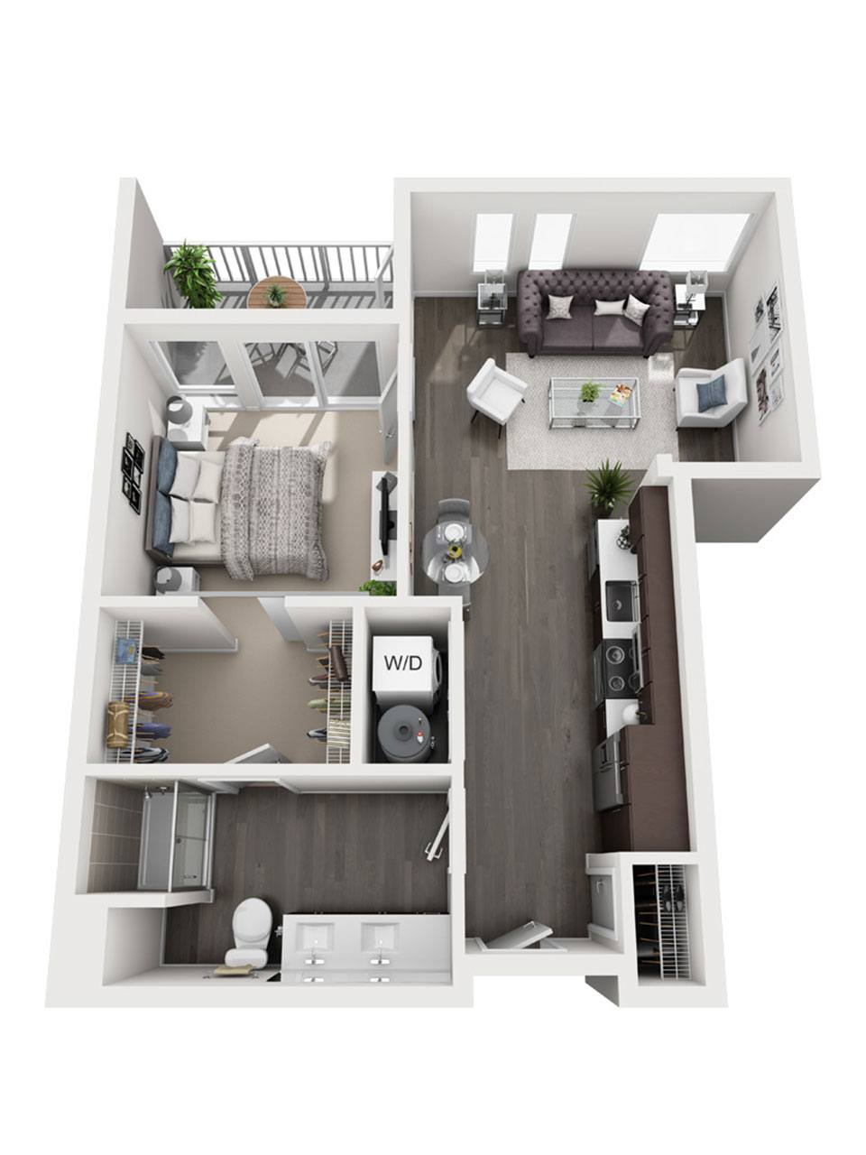 Plan 1 Bedroom – A6 | 1 Bath