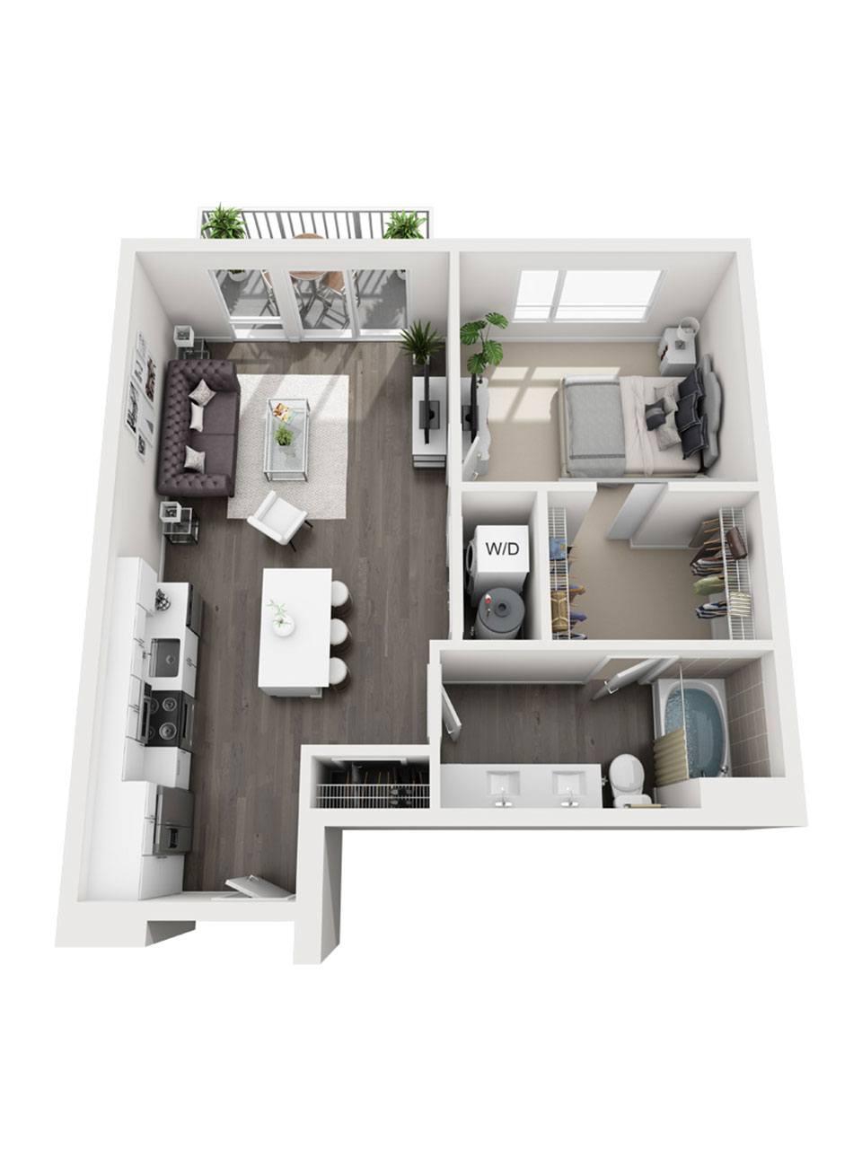 Plan 1 Bedroom – A7 | 1 Bath
