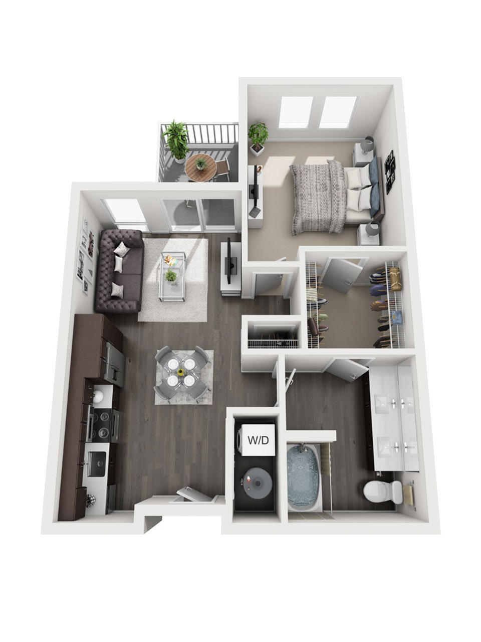 Plan 1 Bedroom – A8 | 1 Bath
