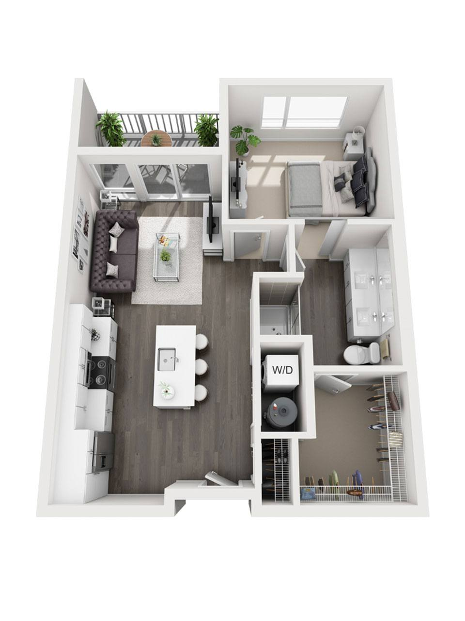 Plan 1 Bedroom – A9 | 1 Bath