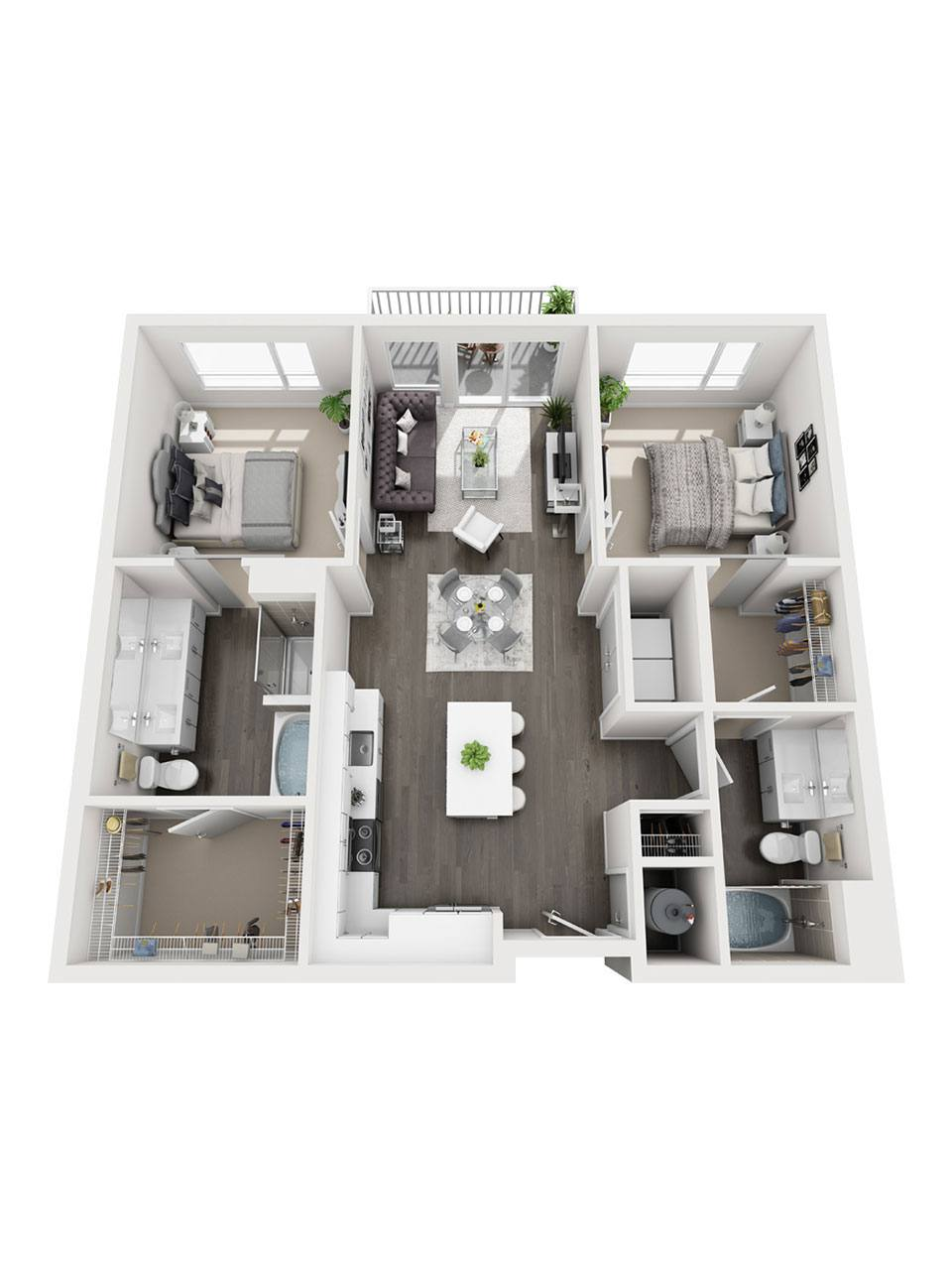 Plan 2 Bedroom – B1 | 2 Bath