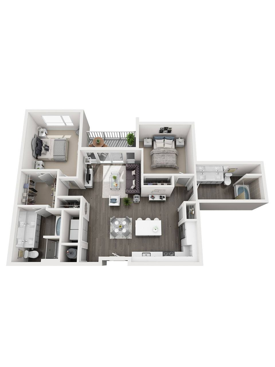 Plan 2 Bedroom – B4 | 2 Bath