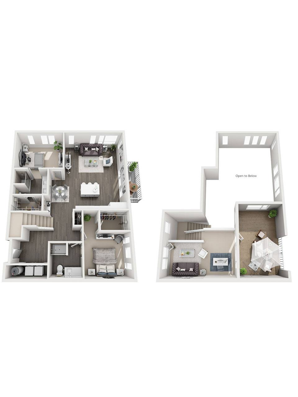 Plan 2 Bedroom – C1-L | 2 Bath