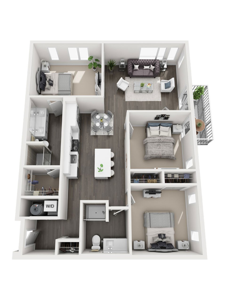 Plan 3 Bedroom – C3 | 2 Bath