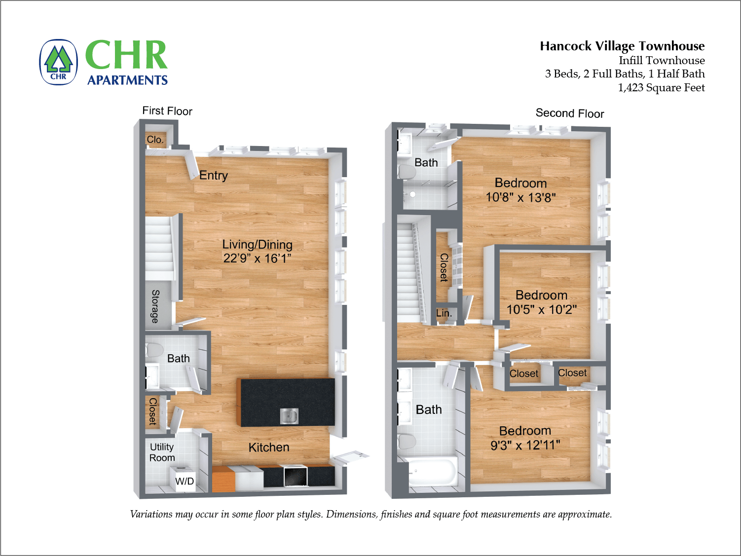 Floor plan Arlington NEW Deluxe Townhome image 2