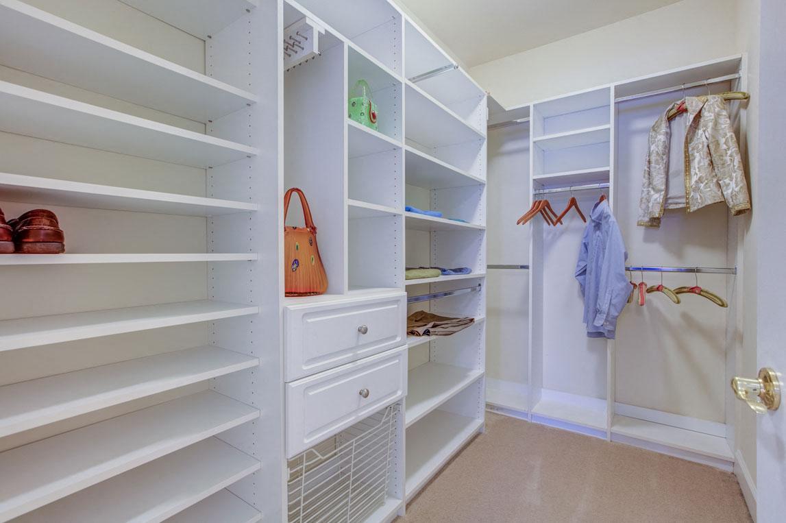 Built In Shelving In Closet