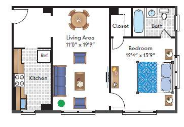 1 Bedroom 02 Tier
