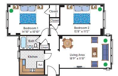 Renovated 2 Bedroom 02 Tier