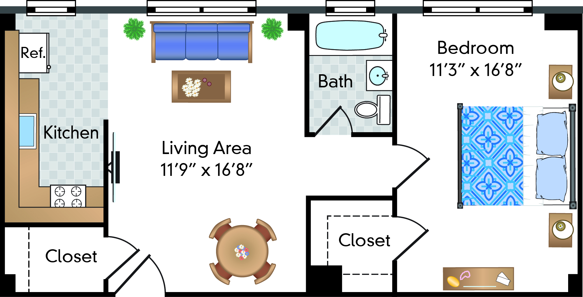1 Bed | 1 Bath