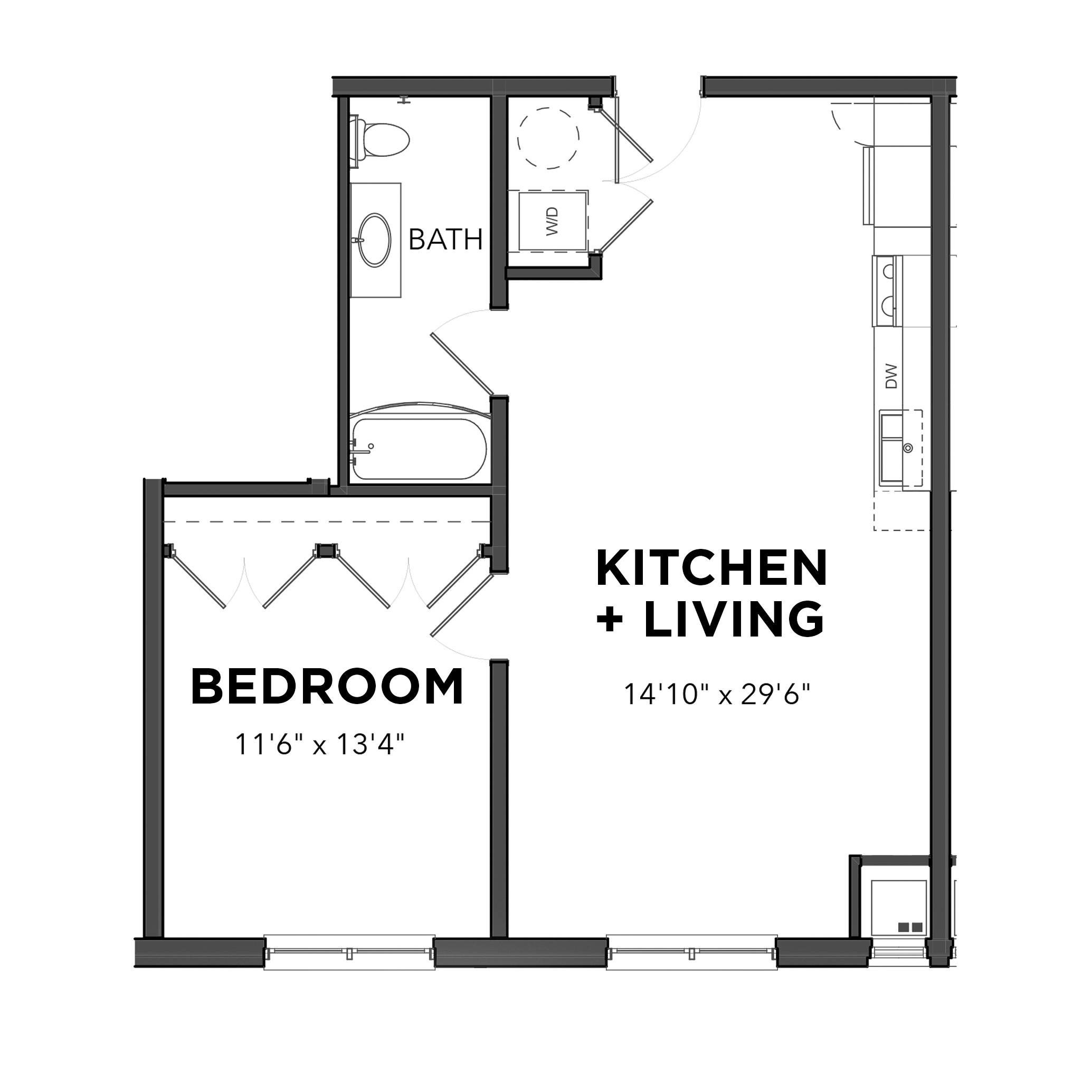 The One Bedroom 11 (Blue)