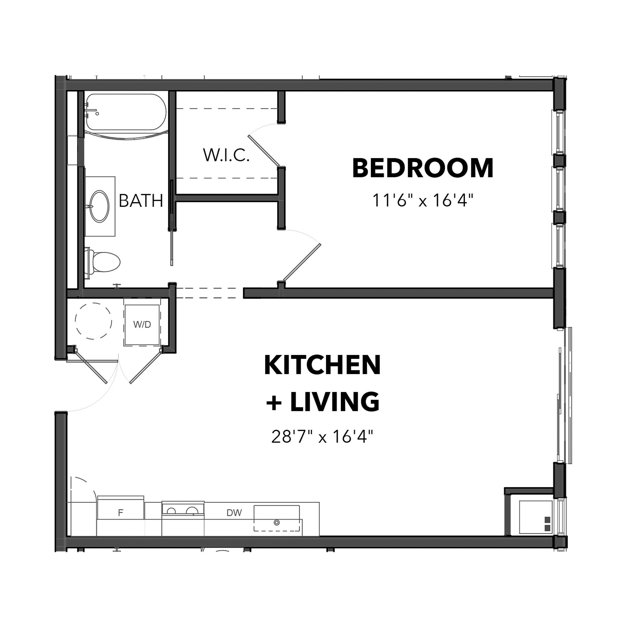 The One Bedroom 5 (Blue)