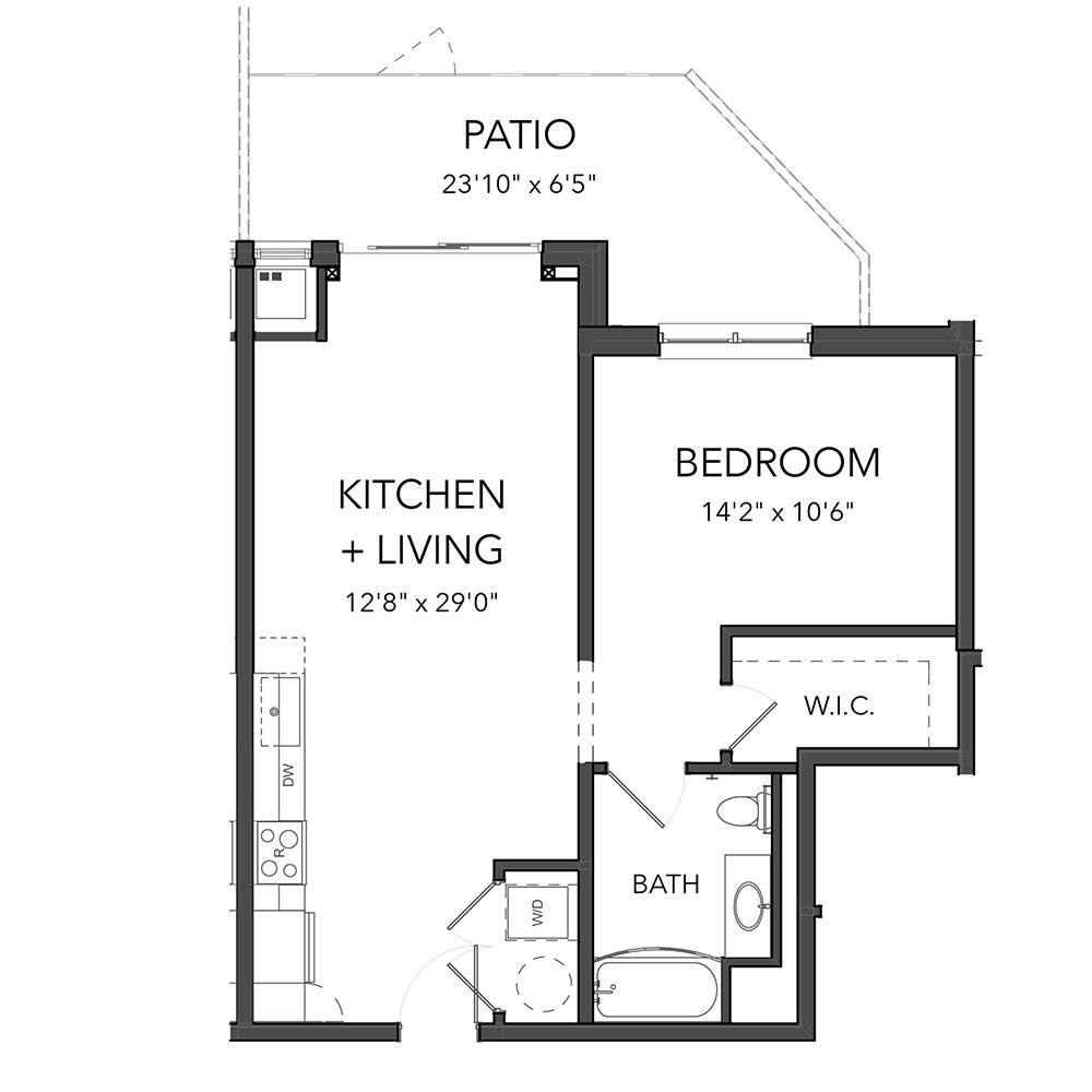 The 1 Bedroom 9 (Orange)
